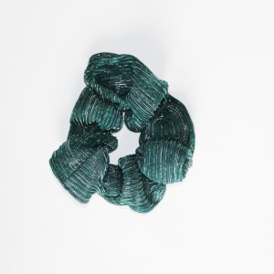 Frufru Tulê Plissado Verde